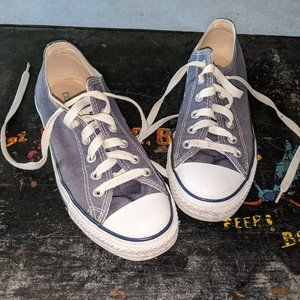 Blue Converse All Star Low Top Tennis Shoe sz 5